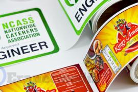 Menentukan sablon merek label produk makanan