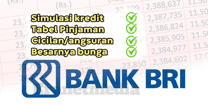 Kredit Pinjaman Kur Bri Terbaru 2021 Tabel Angsuran Brosur Cicilan